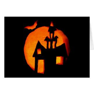 Tarjeta de nota del saludo de Halloween 1
