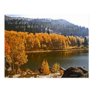 Tarjeta de nota del saludo de la foto del lago Tah Tarjeta Postal