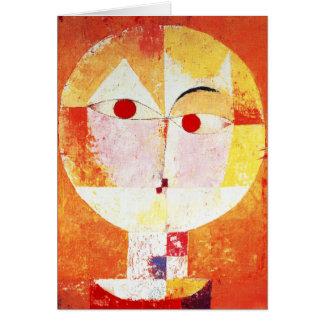 Tarjeta de nota del Senecio de Paul Klee