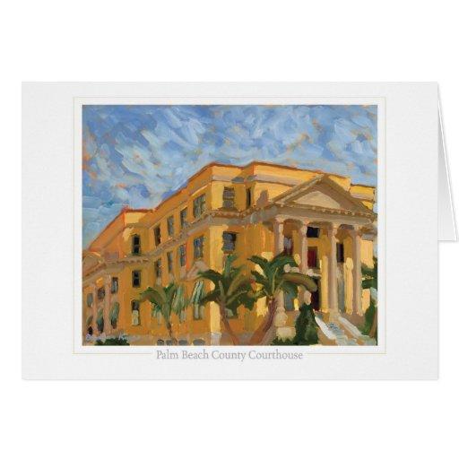 Tarjeta de nota del tribunal del Palm Beach
