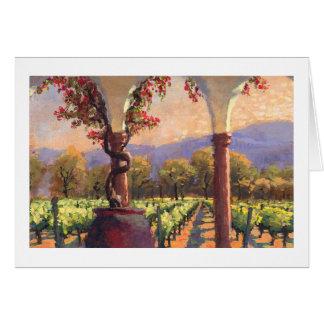 Tarjeta de nota del viñedo del vino