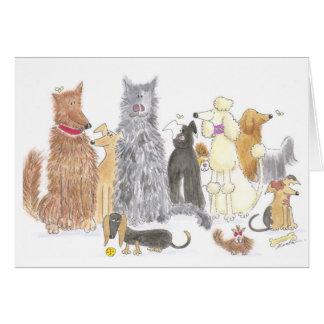 Tarjeta de nota deliciosa de los perros