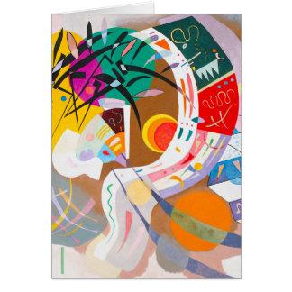 Tarjeta de nota dominante de la curva de Kandinsky