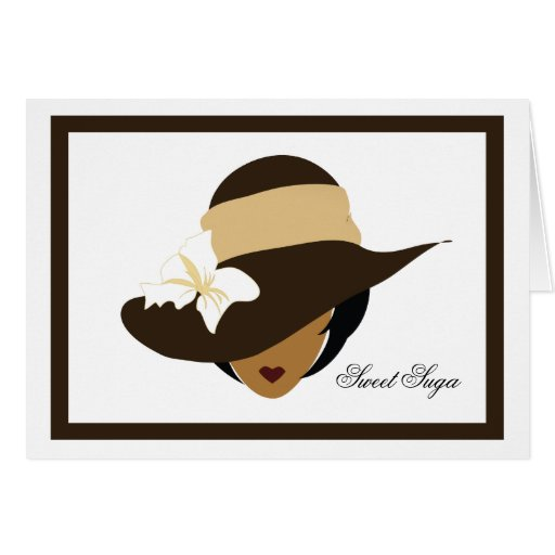 Tarjeta de nota dulce de Suga del chocolate
