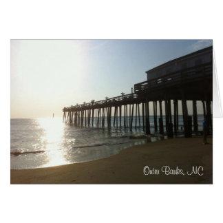 Tarjeta de nota - embarcadero en Outer Banks, NC (