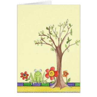 tarjeta de nota en blanco