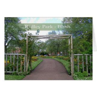 Tarjeta de nota en blanco de Blyth del parque de R