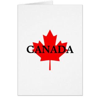 Tarjeta de nota en blanco de CANADÁ