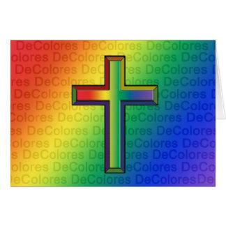 Tarjeta de nota en blanco de De Colores Cross