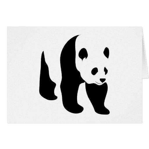Tarjeta de nota en blanco de la panda