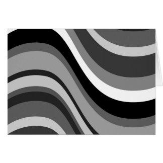 Tarjeta de nota en blanco de las curvas modernas r