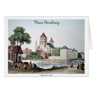 """Tarjeta de nota en blanco """"Estrasburgo vieja"""" pose"""