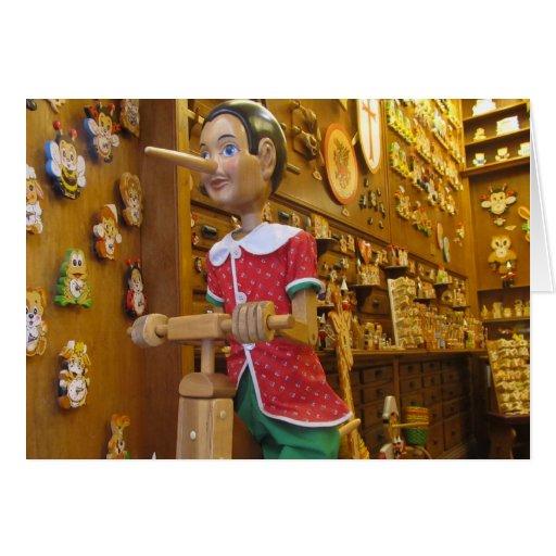 Tarjeta de nota en blanco--Pinocchio