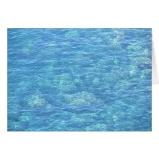 Tarjeta de nota en blanco--Piscina de la marea