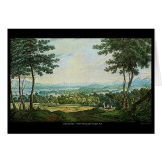 Tarjeta de nota escocesa del arte de la pintura de