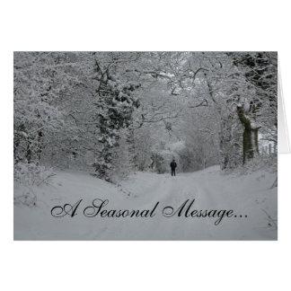 Tarjeta de nota estacional del navidad del mensaje