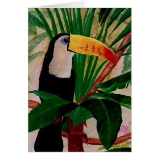 Tarjeta de nota exótica del arte de la selva del p