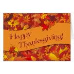 Tarjeta de nota feliz de la acción de gracias