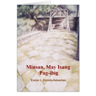 Tarjeta de nota filipina de las historias de amor