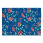 Tarjeta de nota floral del batik de Aiyana