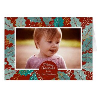 Tarjeta de nota fotográfica de las Felices Navidad