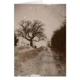 Tarjeta de nota fotográfica del paisaje de la