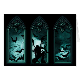 Tarjeta de nota gótica de Windows del palo