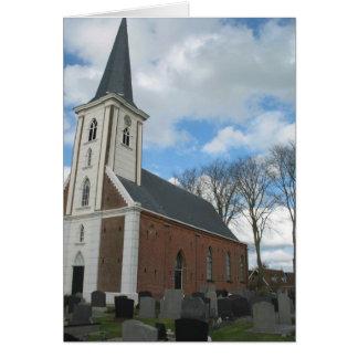 Tarjeta de nota holandesa de la iglesia