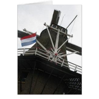 Tarjeta de nota holandesa de los saludos del molin