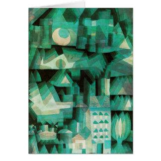 Tarjeta de nota ideal de la ciudad de Paul Klee