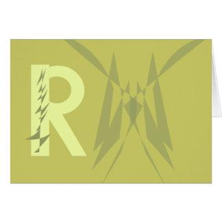 """Tarjeta de nota inicial de """"R"""" de la diversión"""