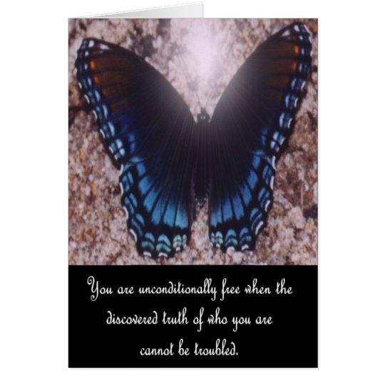 Tarjeta de nota inspirada de la mariposa 1