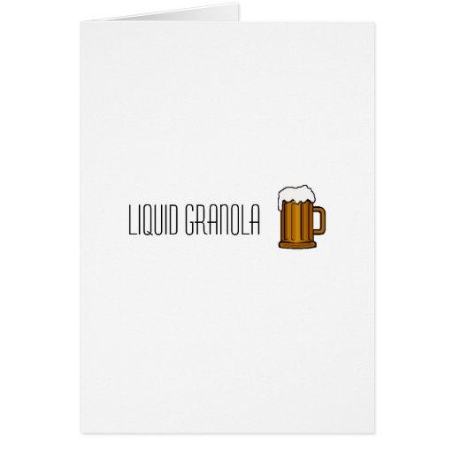 tarjeta de nota líquida del granola