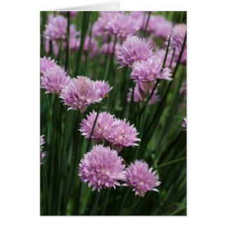 Tarjeta de nota llena del flor