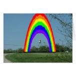 Tarjeta de nota: Longton, arco iris de Kansas
