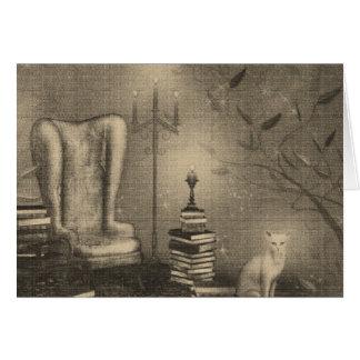 Tarjeta de nota mágica del gatito