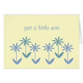 Tarjeta de nota - margaritas simplemente azules