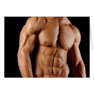 Tarjeta de nota masculina Hunky del Bodybuilder