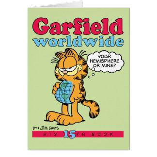 Tarjeta de nota mundial de Garfield