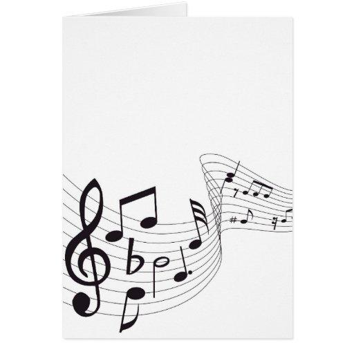 Tarjeta de nota musical