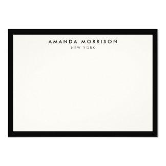 """Tarjeta de nota negra/de marfil de lujo elegante y invitación 4.5"""" x 6.25"""""""
