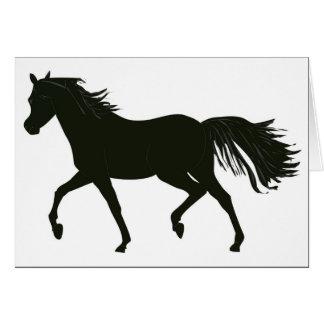 Tarjeta de nota negra del caballo de la belleza