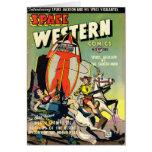 Tarjeta de nota occidental del espacio