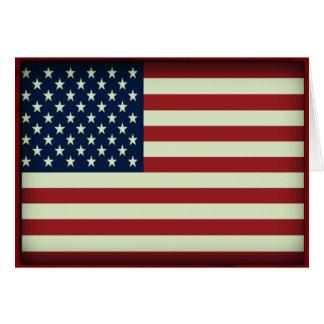 Tarjeta de nota patriótica de la bandera americana