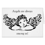Tarjeta de nota personalizada del ángel