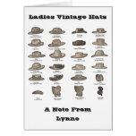 Tarjeta de nota personalizada gorra del vintage de