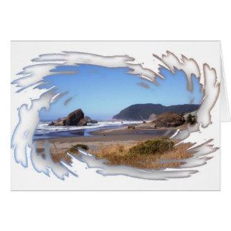Tarjeta de nota pintada de la costa