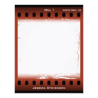 """Tarjeta de nota plana de la película (moho) invitación 4.25"""" x 5.5"""""""