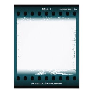 """Tarjeta de nota plana de la película (trullo) invitación 4.25"""" x 5.5"""""""