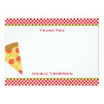 Tarjeta de nota plana de la pizza comunicado personal
